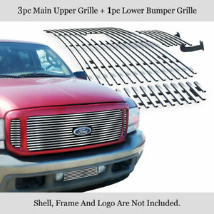 1999 2004 Ford F 250 F 350 Super Duty Excursion Billet Grille Combo Insert