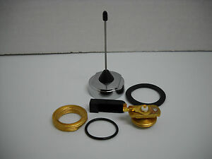 P71 Crown Victoria 3 Police Antenna Chrome Base With Base Mount Hardware