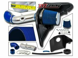3 5 Blue Heat Shield Cold Air Intake Kit Filter For 2010 2011 Camaro 3 6l V6