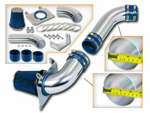 3 5 Blue Cold Air Intake Racing System Filter For 89 93 Mustang 5 0l V8