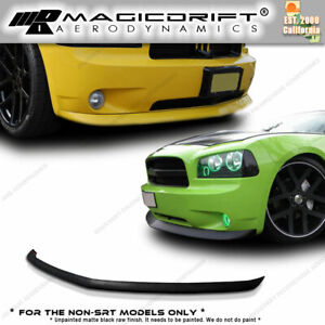 For 05 10 Dodge Charger Daytona Polyurethane Pu Front Bumper Lip Spoiler Kit Oe