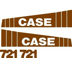Brown Decal Set For Case Wheel Loader 721
