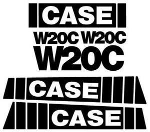 Decal Set For Case Wheel Loader W20c
