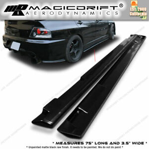01 07 Evo 7 8 9 Optional Add on Side Skirts Extensions Extension Lips
