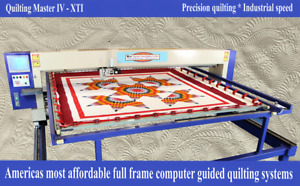 New Quilting Master Iv Xti Computer Guided Full Frame Quilting Machine Lte