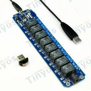 8 Channel Usb wireless 5v Relay Module Bluetooth Remote Control Kit