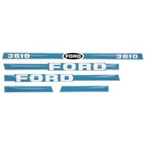 Hood Decal Set Made For Ford Tractor Model 3610 Decals For Ford Tractors
