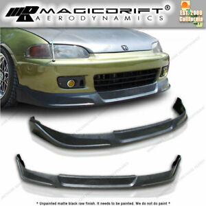 92 94 95 Honda Civic Hb Hatch Jdm Front Bumper Pu Lip urethane Tcs Body Kit