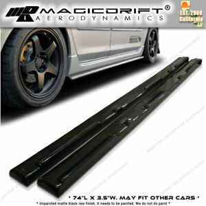 For 10 13 Mazda 3 Ms Speed Jdm Style Side Skirts Extension Lips Polyurethane Pu