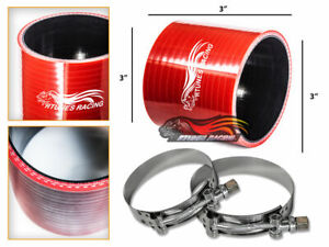 Red 3 Inch Silicone 3ply Coupler Hose Turbo Intake Intercooler For Chevrolet 2