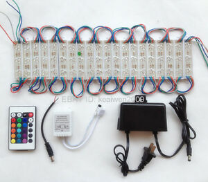 Rgb Led Modules Lights Dc12v 20led Lamp Flash With Ir 24 Keys Controller Adapter