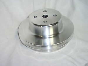 Aluminum Big Block Chevy 2 Groove Water Pump Pulley Bbc Lwp 396 454 V8