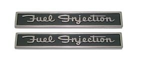 1962 Corvette Front Fender fuel Injection Emblem Pair New Trimparts 62
