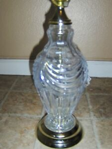 Vintage Antique Crystal Table Lamp