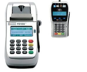 First Data Fd100ti Ip dial Machine And Fd35 Emv Pin Pad With 1yr Warranty