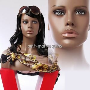 Female Mannequin Head Display Wigs Hats Scarves African Head Hfo