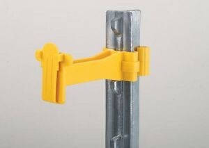 Offset Wide Tape Fence Insulator For T Posts Electric Tape Up To 1 5 Inch 100pk