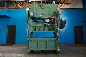 125 Ton Verson Straight Side Double Crank Punch Press 65 X 34 1 2 Bed
