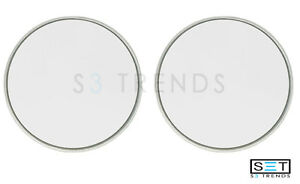 2 Pc Round 3 3 4 Stick On Blind Spot Convex Wide Angle Mirrors Car Truck Suv