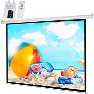 100 4 3 Motorized Electric Projection Screen Auto Projector 80 x60 Matte White