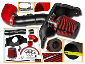 Cold Air Intake Kit Matt Black Red Filter For 05 09 Ford Mustang Gt 4 6l V8