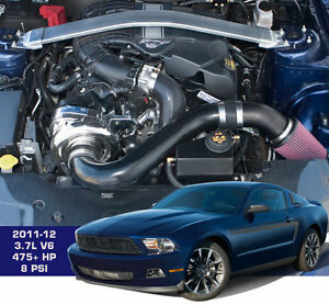 New Mustang V6 3 7l 4v P1sc1 Procharger Supercharger Ho Tuner Intercooled System