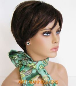 Bust Female Mannequin Head Display Wigs Hats Scarves Jewelry Head foo 1 Darkwig
