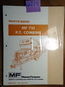Massey Ferguson Mf 751 P t Pull type Combine Parts Book Manual 651 400 M93