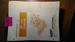 Massey Ferguson Mf 410 Combine S n 1200 006 777 Parts Manual 651 228 M95 9 81