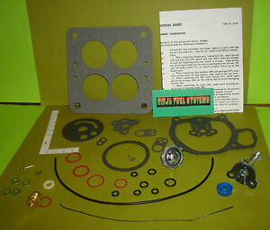 Carburetor Rebuild Kit Holley Model 4000 Teapot 55 56 57 Ford Lincoln Mercury