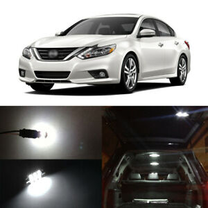 15 X White Led Interior Bulbs License Plate Lights For 2007 2015 Nissan Altima