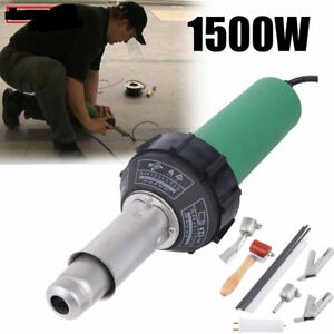 1500w Hot Air Plastic Welding Gun Welder Pistol 4 Speed Nozzles