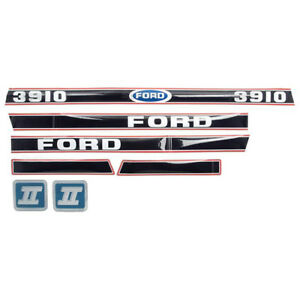 83953030 Black Red Hood Decal Set For Ford 3910 Tractor After 1986