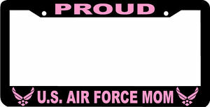 Proud Mom Pink United States Air Force Us U S Air Force License Plate Frame