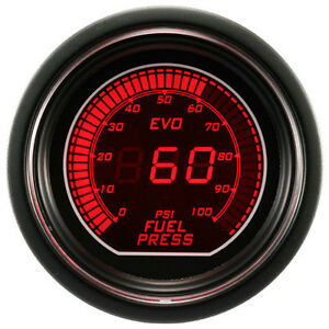 52mm Autogauge Digital Evo Gauge Fuel Pressure Meter Red blue Smoke Led Psi bar