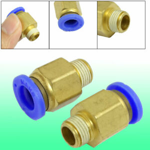 5 Pcs 8mm Tube 1 8 Thread Brass Quick Connector Pneumatic Air Fittings