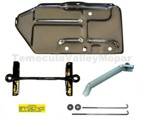 Battery Tray Hold Down Set For 1971 Mopar B Body