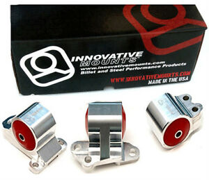 Innovative Motor Mounts Kit Civic 92 95 Integra 94 01 Billet 3 Bolt Post Mount