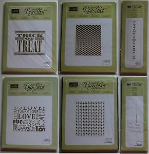 Stampin Up Sizzix Letterpress Plates For Your Cards And Scrapbook multi Choice