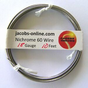 Nichrome 60 Resistance Wire 18 Awg gauge 10 Feet