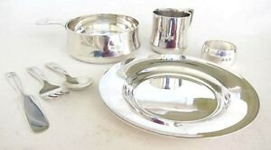 Sterling Silver Tiffany Baby Set Plate Porringer Cup Ring Flatware 22 20 Toz
