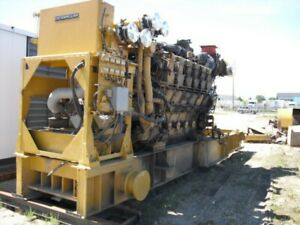 Caterpillar 3612 Diesel Generator Set 3300kw 4000hp 900rpm
