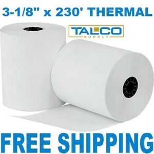 3 1 8 X 230 Thermal Pos Receipt Paper 20 New Rolls Free Shipping