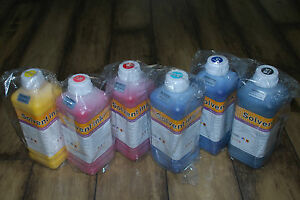 Eco Solvent Ink For Roland Mimaki Mutoh Printers cmyk Lc Lm 6 Liters Us Ship