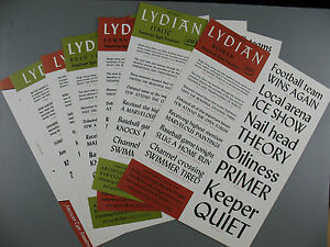 Type Specimen Sheets Of Lydian Typeface American Type Founders Company