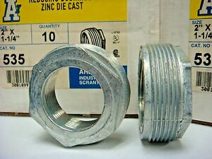 10 Arlington 535 Reducing Bushing 2 X 1 1 4 Rigid Imc Fitting Zinc Diecast