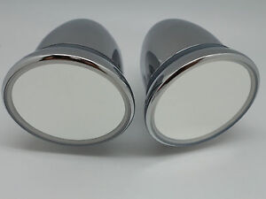 60 S 70 S 80 S Universial Vintage Classic Outside Chrome Mirrors Pair