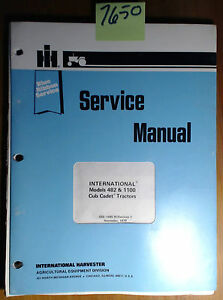 Ih International Harvester 482 1100 Cub Cadet Service Manual Gss 1485 W rev 1 79