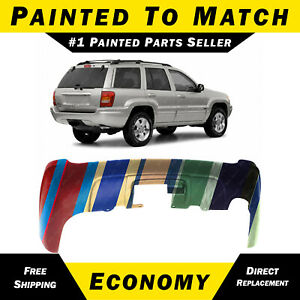 New Painted To Match Rear Bumper Replacement For 1999 2004 Jeep Grand Cherokee