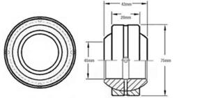 At157173 Self Aligning Bushing Bearing For John Deere 450g 550g 650g
